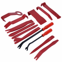 Mayitr 13pcs Car Door Dash Audio Radio Removal Tool Panel Trim Install Open Pry Kit Set