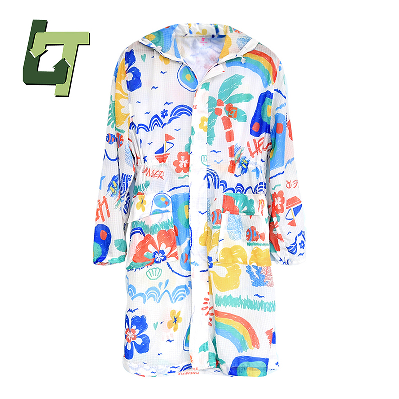 Journey Wish Outdoor Spring Summer Sun Protective Light Breathable Loose Skin Cloth Comfortable Print Women Plus Size Jacket