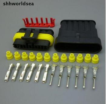 shhworldsea Free Shipping 50Set Kit 1.5mm Car Truck 6 Pin Way Waterproof Connector Plug