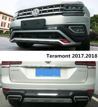 Dla Volkswagen/VW Teramont 2017.2018 osłonka na zderzak listwa ochronna zderzaka wysokiej jakości ABS przód + tył Auto akcesoria