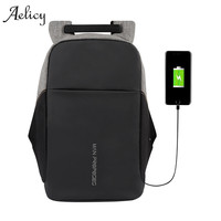 Aelicy Multifunction USB Charging Men Women 15inch Laptop Backpack For Teenager Male Mochila Leisure Travel Anti