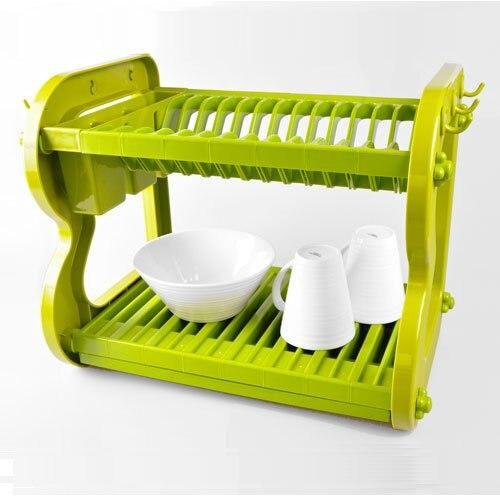 Sakura Two Tiers Dish Rack Compact Utensil Kitchenware Drying Drainer