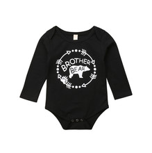 Newborn Infant Baby Boy BROTHER BEAR Romper Jumpsuit Long Sleeve Cotton Casual Clothes Rompers(China)