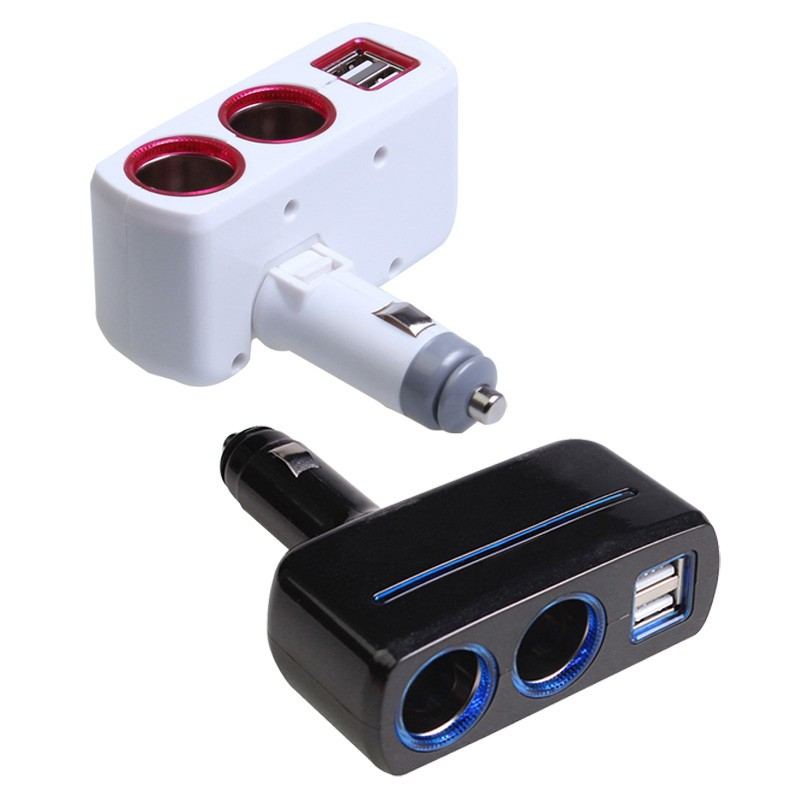 Auto Zigarettenanzünder Splitter Dual USB Car Charger Adapter Auto-styling 5 V 2.1A 1A Ladeadapter mit LED-Licht