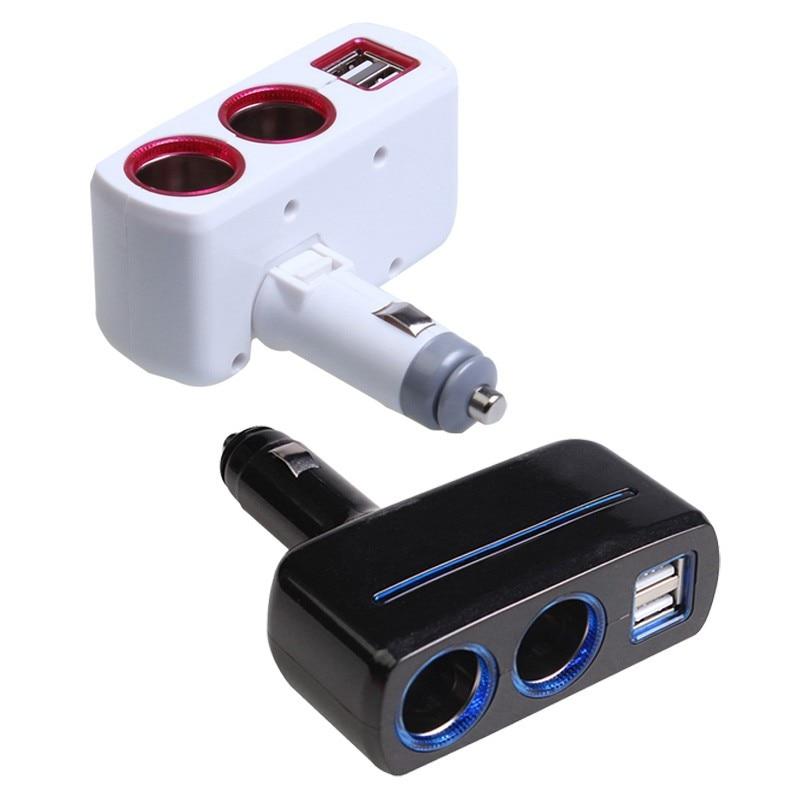 Car Cigarette Lighter Socket Splitter Caricabatteria Da Auto Dual USB Adattatore per Auto-styling 5 V 2.1A 1A Adattatore di Ricarica con HA CONDOTTO LA Luce
