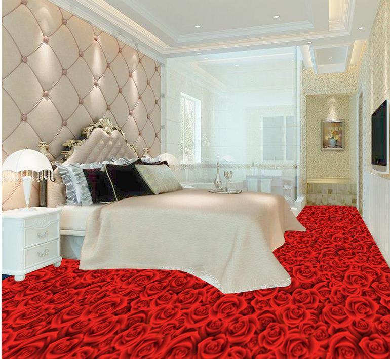 Personalizado 3d piso pintura de murais de parede 3d papel for Suelo 3d blanco