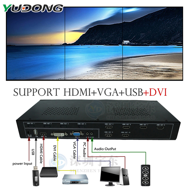 Yd tv06 3x2 2x3 6x1 video wall controller hdmivgadviusb ledlcd yd tv06 3x2 2x3 6x1 video wall controller hdmivgadviusb ccuart Images