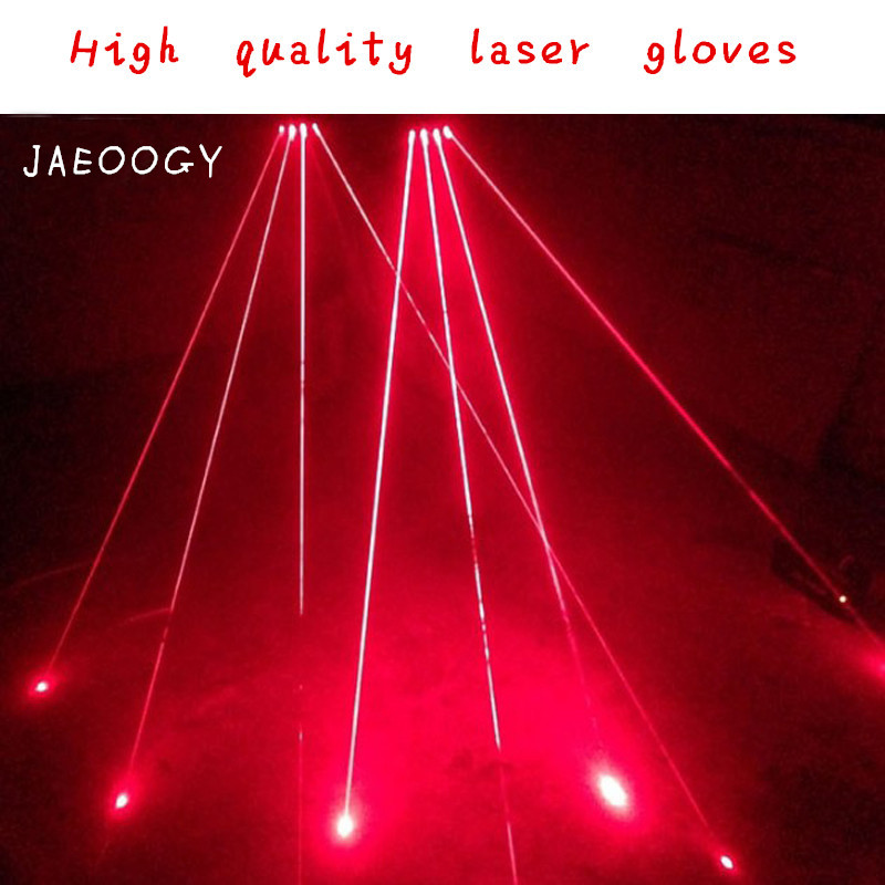 Free shipping custom creative personality laser hand bar night shop DJ laser luminescent semi finger glove team performing dance