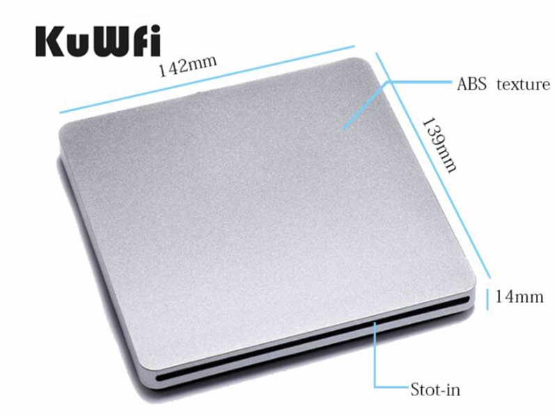 USB3.0 External BD-Rom Blu-Ray Combo Drive/DVD Burner Writer 3D Blue-ray Combo BD-ROM Player For Apple Macbook Pro ABS Material image