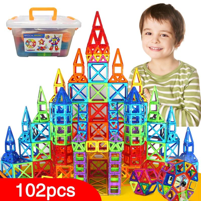New Magnetic Blocks,Magnetic Designer Construction Set Model Building Toy Plastic Magnet Educational Toys For Children Kids Gift