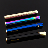 HONEST Creative Handy Cigarette Shape Flint Wheel Butane Refillable Pipe Lighter
