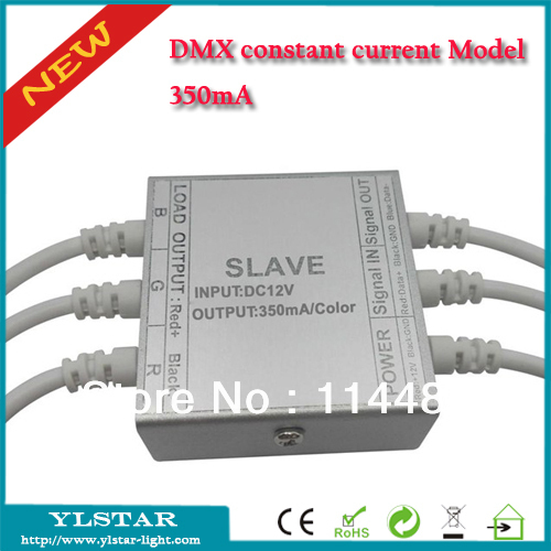 Free Shipping 350mA DMX constant current decoder;DC12V/24V input optional;350ma each channel output, CE RoHS, 2 years Warranty