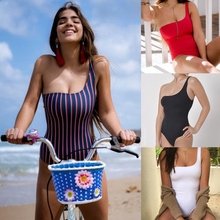 Sexy One Piece Bikini Monokini Swimsuit Beachwear swimming suit for woman Single shoulder strap M7