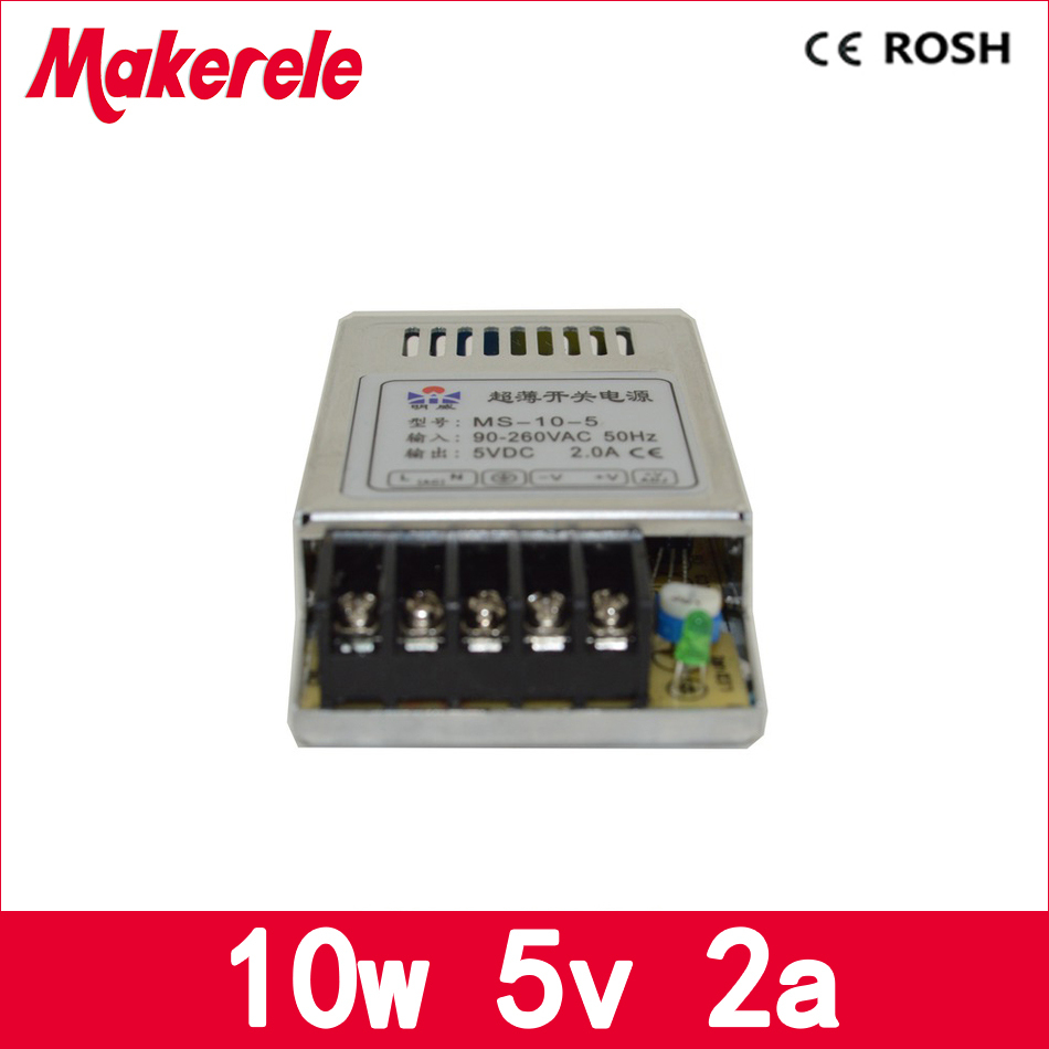fast delivery 2A  5v 10w MS-10-5 IP20 Constant voltage 12v 10w switching model power supply AC TO DC 10w 12v power supply meanwell 12v 350w ul certificated nes series switching power supply 85 264v ac to 12v dc