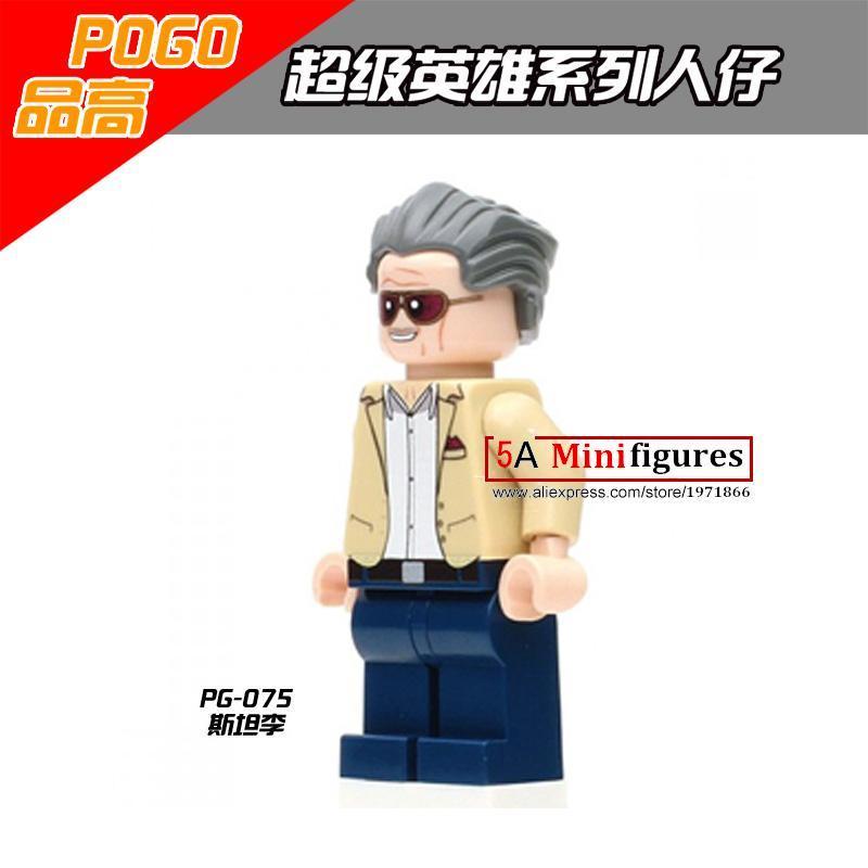Single sale stan-lee super heros marvel founder action mini figures bricks building...