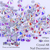 Crystal And Crystal AB Mix Sizes Nail Art Rhinestones For Nails Decorations Bags clothes and shoes
