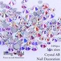 Tamaños de La Mezcla de cristal Y Cristal AB Nail Rhinestones Arte De Uñas Decoraciones Bolsas de ropa y zapatos