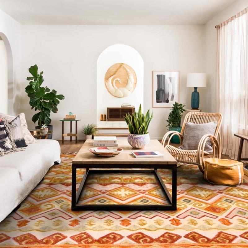 Kilim 100 Bohemia Persia Wool Luxury Living Room Carpet Geometric Indian Rug Plaid Striped