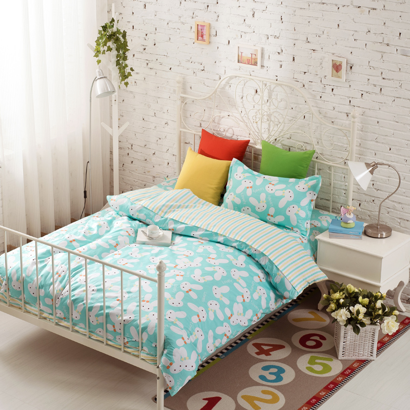 Good 3pcs Twin Blue Comforter Sets Rabbit Anime Bed Sheets Children Bedding  Christmas Comforters And Quilts Juegos De Sabanas In Bedding Sets From Home  U0026 Garden ...