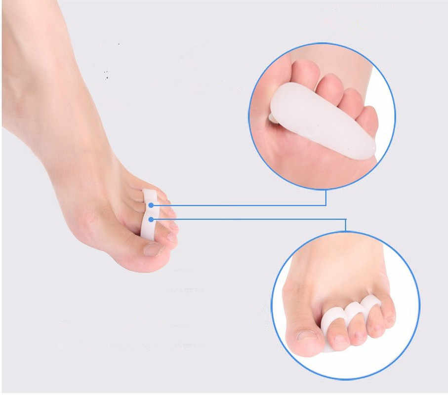 1pair Gel Toe Separators Stretchers Alignment Overlapping Toes Orthotics Hammer Orthopedic Cushion Feet Care Shoes Insoles