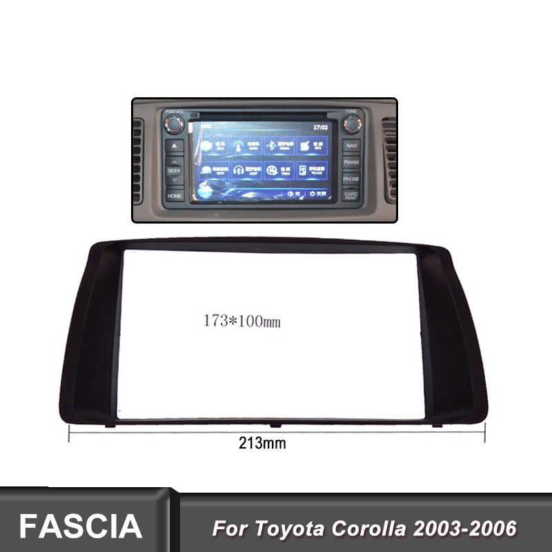 2DIN Car Panel radio fascia fit for Toyota Corolla 2003-2006  Adapter CD Trim Stereo Interface Radio Fascia In Dash Mount Kit