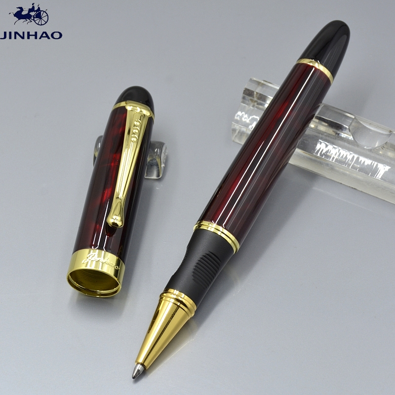 High Quality JINHAO X450 dark red metal roller ball pen school office Stationery brand business gift writing gel pens A5 high quality jinhao x450 cloud of ash bright roller ball pen school office stationery brand birthday gift writing gel pen pens