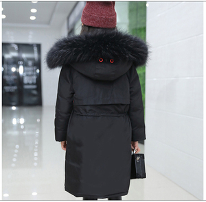Image 5 - Chaqueta de invierno súper grueso, abrigos Reversible de piel con capucha para chicas rusas, abrigo chaqueta de niños, Parkas de plumón, abrigo largo
