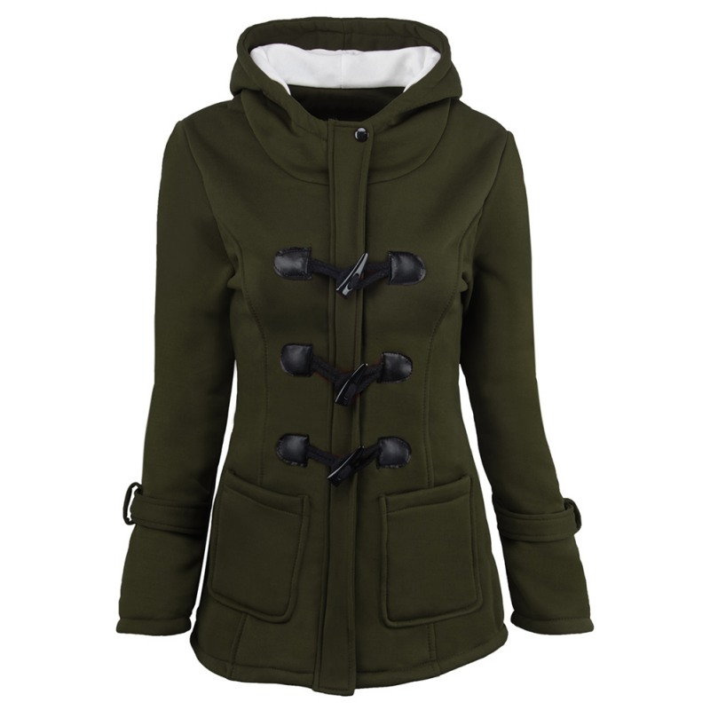 Hooded Parkas Female Women Winter Coat Thicken Cotton Blending Jacket Womens Outwear Parkas for Women F2