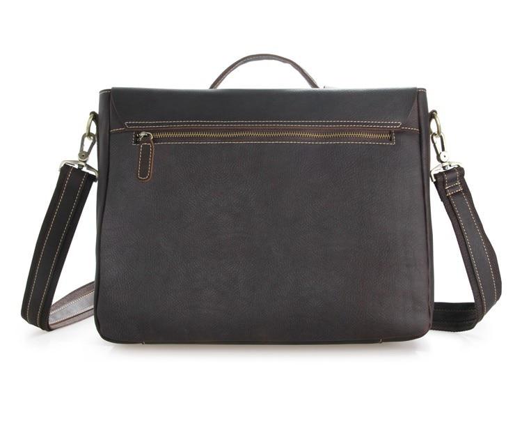 Men 39 s Chocolate Briefcases Cross Body Bag Handbag Messenger Cow Leather Brown Business Travel Vintage Tote Laptop 15 quot Big Bags