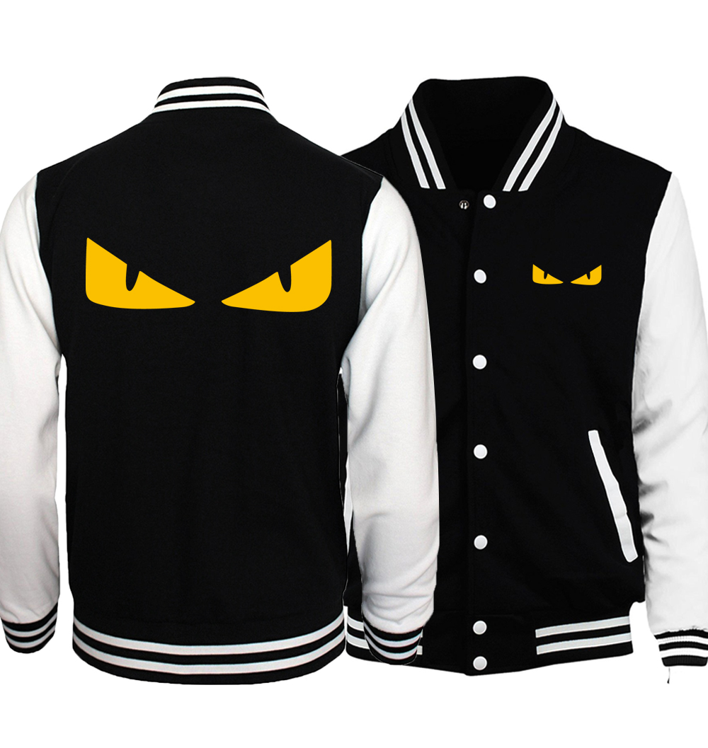 Little Monster Yellow Eyes Cartoon Men Baseball Jackets 2018 Spring Fashion Naruto Men C ...