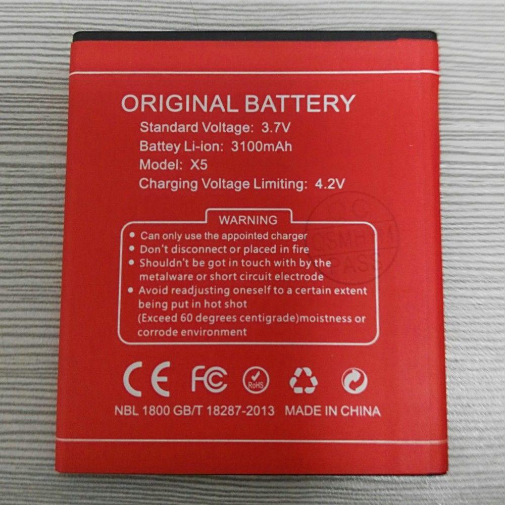QSMHYM marca nueva 3100 mAh 3,7 V rojo Li-Ion súper batería para DOOGEE X5 X5 Pro teléfono móvil