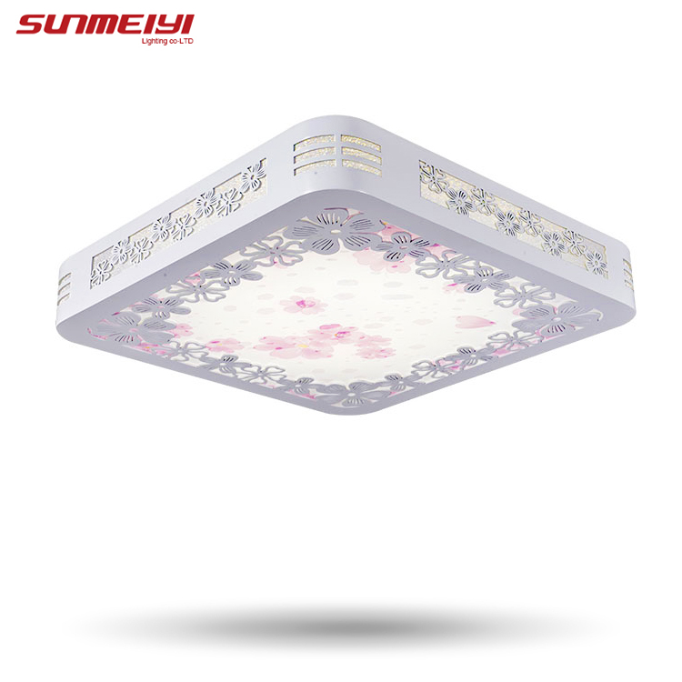 24 Watt Quadratischen Holz Beleuchtung Lampen Kinder Schlafzimmer Wohnzimmer Licht Moderne Led Deckenleuchte Dinning Kostenloser Versand In