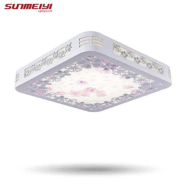 24 Watt Quadratischen Holz Beleuchtung Lampen Kinder Schlafzimmer Wohnzimmer Licht Moderne Led Deckenleuchte Dinning