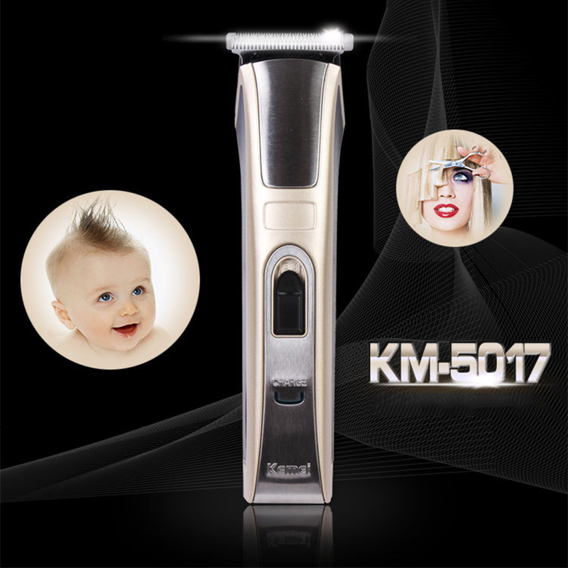 Kemei KM-5017 Electric Hair Clipper Trimmer Rechargeable Ergonomically Shaver Razor Cordless Adjustable Clipper For Child Pet