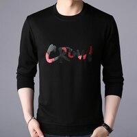 2018 long sleeve clothing knitting letter new tee shirts russia top t shirt men tops tshirt streetwear t shirt cool clothes 105