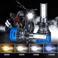 H4 Led HS1 H7 H1 H4 Led Motorcycle Headlights Lampara 12V 6500K 3000k 4300K 12000K Motor Scooter Hi/lo Led Lights for Motorbike