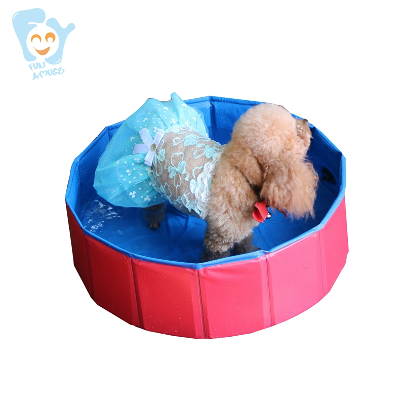 80x20cm Non- Inflatable Dog Pool Small Size Pet Pool Durable PVC Tarpaulin Baby Foldable Bath Pool