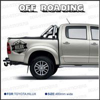 2 PC Free Shipping REAR STICKER Hilux Off Road DECAL FOR TOYOTA HILUX Decals Badges Detailing