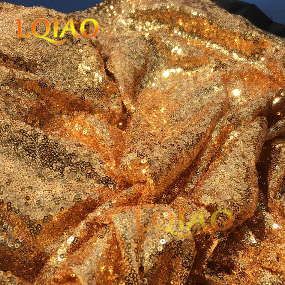 gold sequin fabric-011