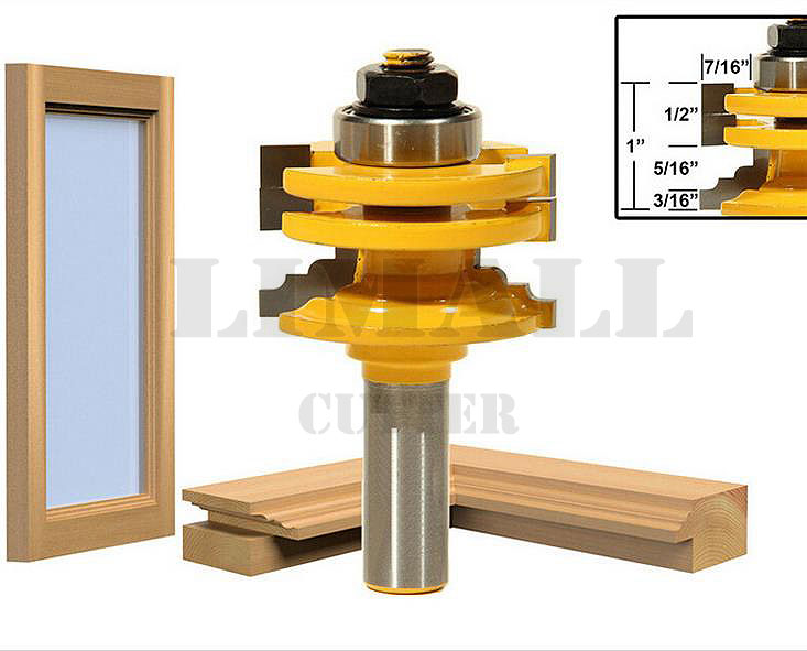ФОТО SHK:12.7MM Woodworking milling cutter knife  door glass windows wood carving cabinet door tenon knife