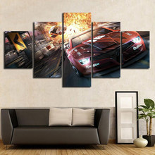 Wall Art Canvas Painting 5 Pieces Motion Picture Game Picture Prints Home Decoration Poster For Baby Room Bedroom Modular Frame(China)