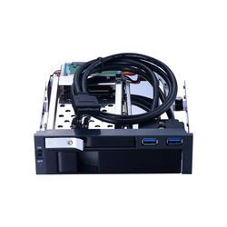 Uneatop 5.25 дюймов SATA Внутренний замок HDD mobile rack с двумя USB3.0 порт HDD корпус с горячей замены для оптических pc залива пространство