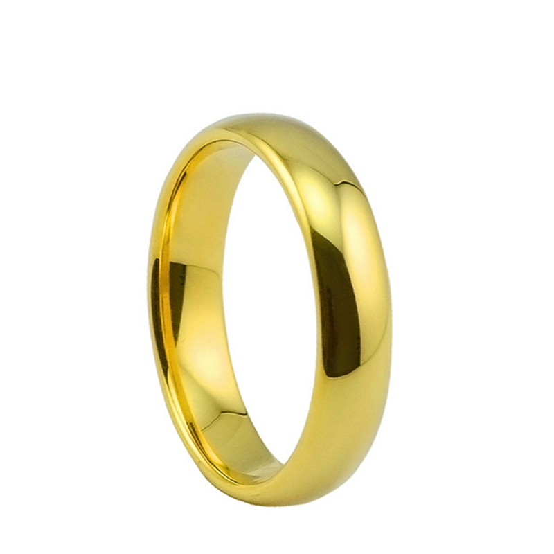 Fashion Bulk Stainless Steel Rings For Women 6mm Gold