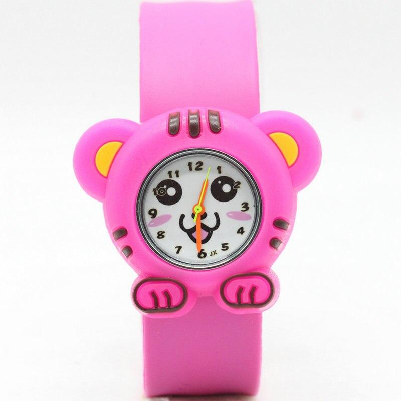 Fashion Creative Kids Slap Watch 3D Cartoon Silicen Strap Quartz Wristwatches Tiger Sport Children Watch Cute Baby Clock Gifts