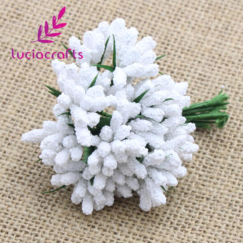 Best buy ) }}Lucia Crafts Foam Flower bud with wire stem DIY craft artificial flowers Chistmas Party