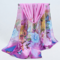 2017 Hot sale Woman Silk Scarf Printing Hijab Women's Scarves Fashion Chiffon Silk soft Scarfs Shawl Scarves Wraps 043