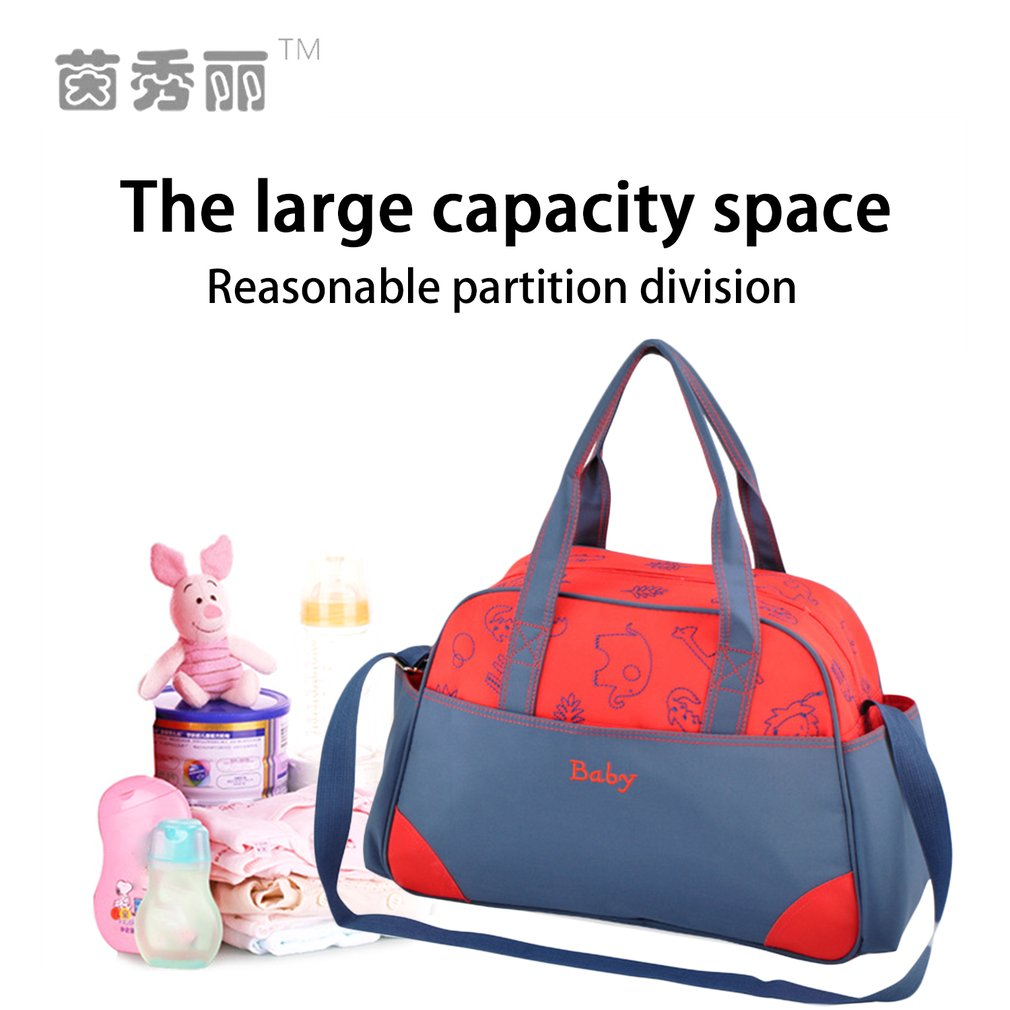 aac862e46b9 INSULAR Diaper Bag Fashion Baby Bag Large Capacity Waterproof Shoulder Bags  for Stroller Hanging Maternity Nappy Bag Portable-in Diaper Bags from Mother  ...