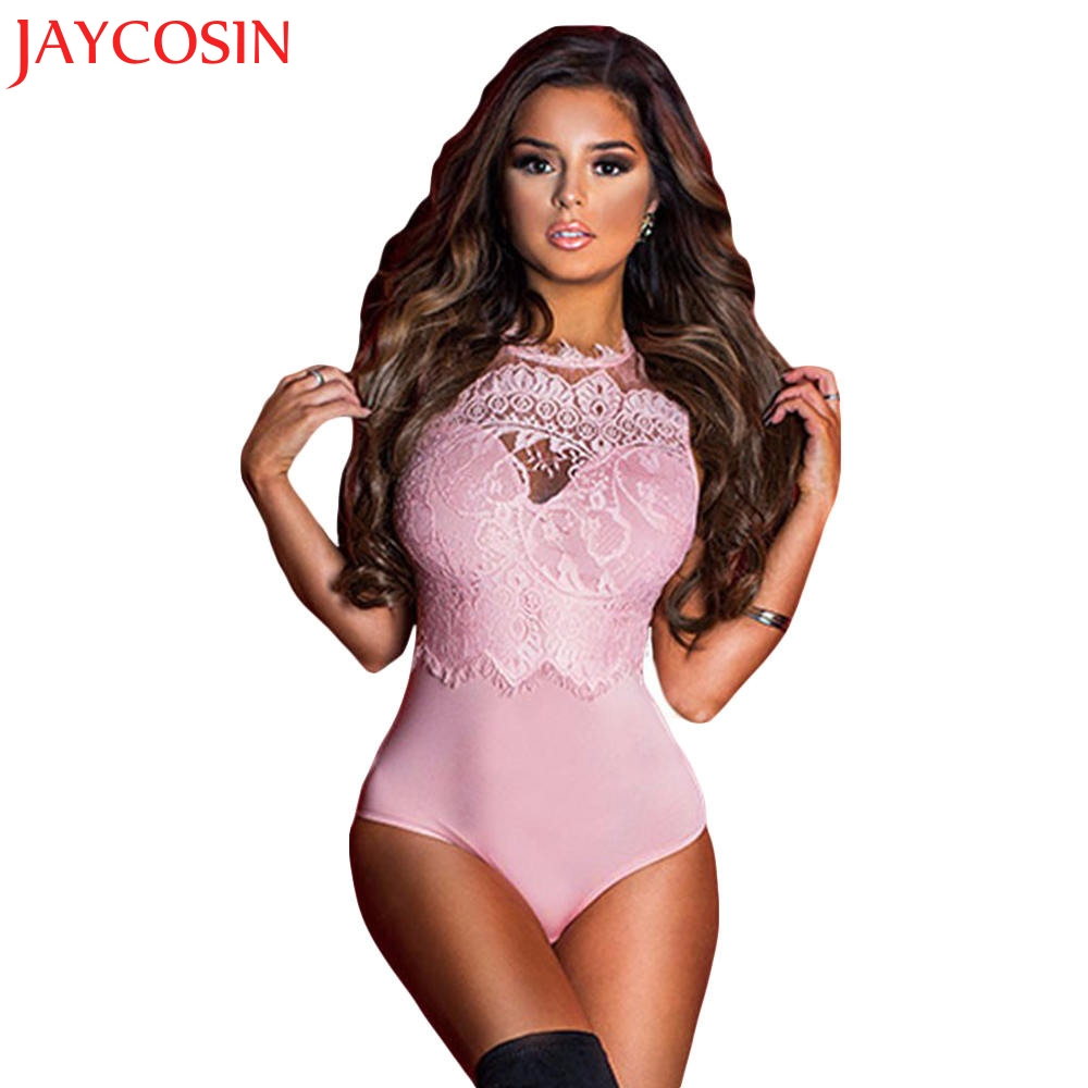 JAYCOSIN 2017 Sexy Women Jumpsuit New Bodysuit Overalls Summer Bodysuit Lace Patchwork For The Blouse Party Jumpsuits Y915