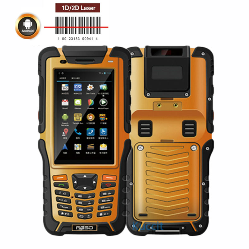 1D 2D Laser Barcode Scanner Android Handheld Terminal PDA Data Collector Reader Portable Rugged Waterproof Phone Sunlight LCD
