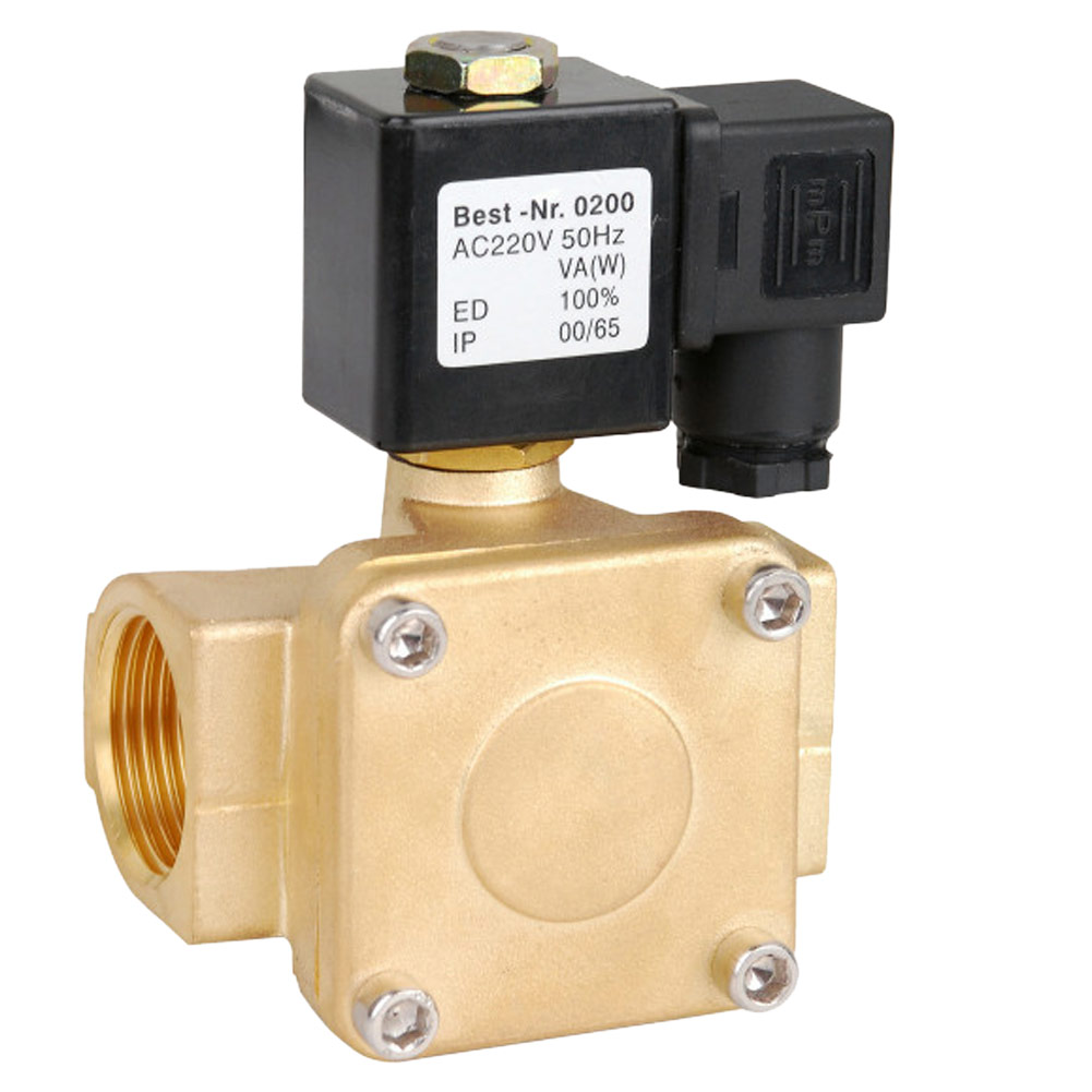Brass 220V AC Electric Solenoid Valve Water Air Fuels Gas Solid Coil Normal Closed Alloy free shipping3 4 port size dn20 ip68 class under water brass electric solenoid valve waterproof coil music fountain valve dc24v